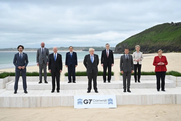 قمة الدول السبع هذا العام تعقد في منتجع كورنوال جنوب غربي بريطانيا