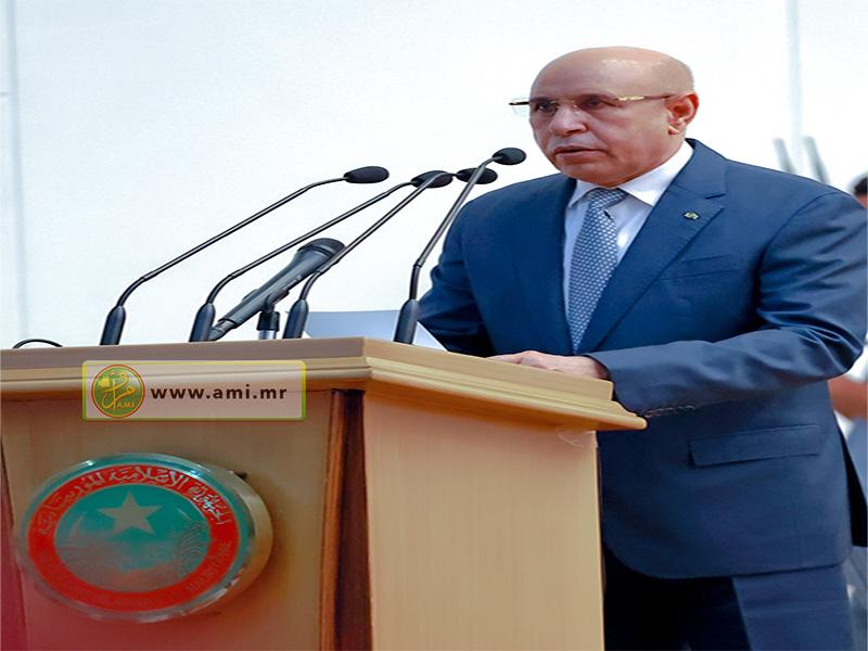 الرئيس الموريتاني لدى افتتاحه المنتديات العمومية لقطاع البناء والأشغال