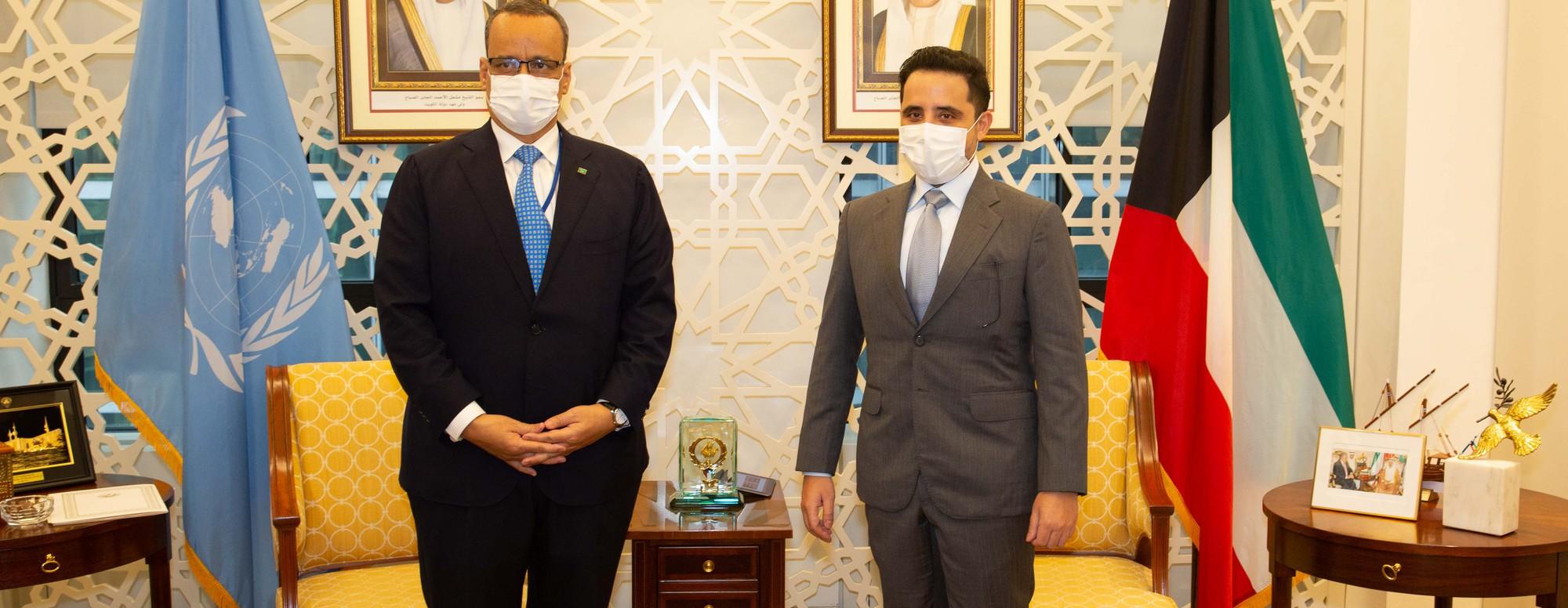 ولد الشيخ أحمد خلال لقاءه بوزير الخارجية الكويتي على هامش أعمال الدورة ال 76 للجمعية العامة للأمم المتحدة.