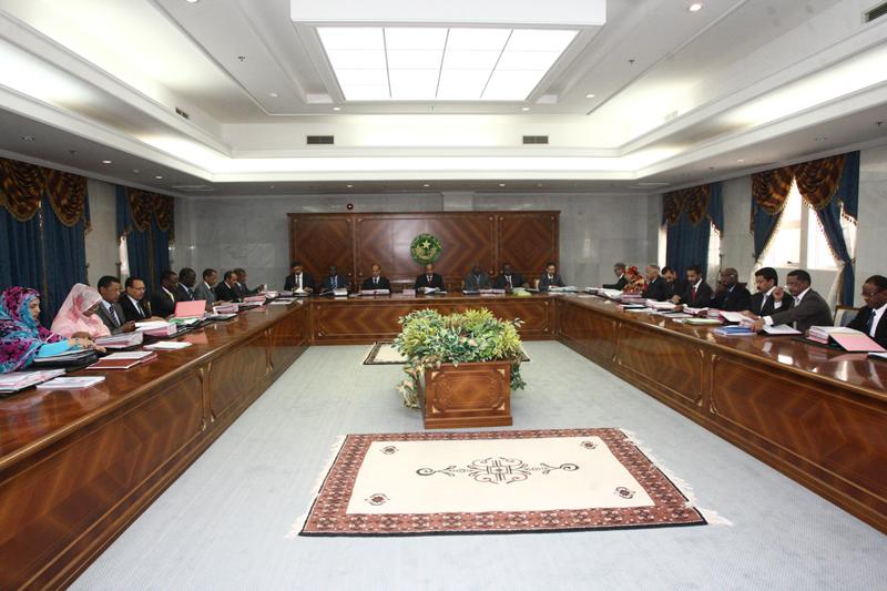 مجلس الوزراء الموريتاني خلال اجتماع سابق (ارشيف)