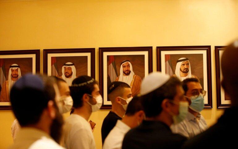 إسرائيليون يحضرون فعالية في دبي خلال زيارة حاخام إسرائيل الأكبر للإمارات في ديسمبر