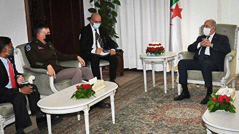 """تبون بحث مع قائد """"أفريكوم"""" دعم دول الساحل في مكافحة الإرهاب"""