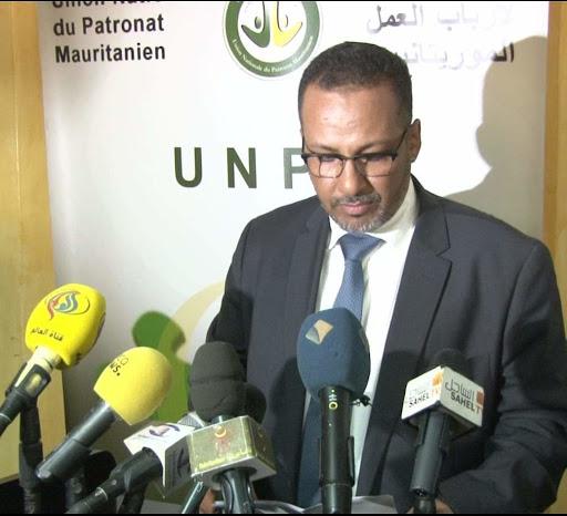 رئيس الاتحاد الوطني للأرباب العمل الموريتانيين زين العابدين ولد الشيخ أحمد